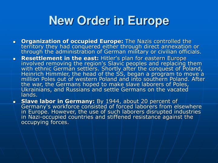 New order in europe