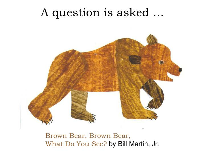 A question is asked …