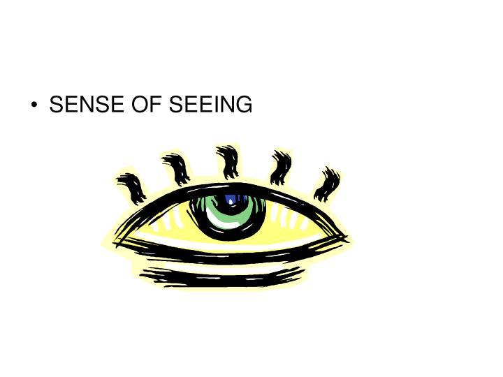 SENSE OF SEEING