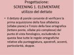 progettazione screening 1 elementare utilizzo del dettato