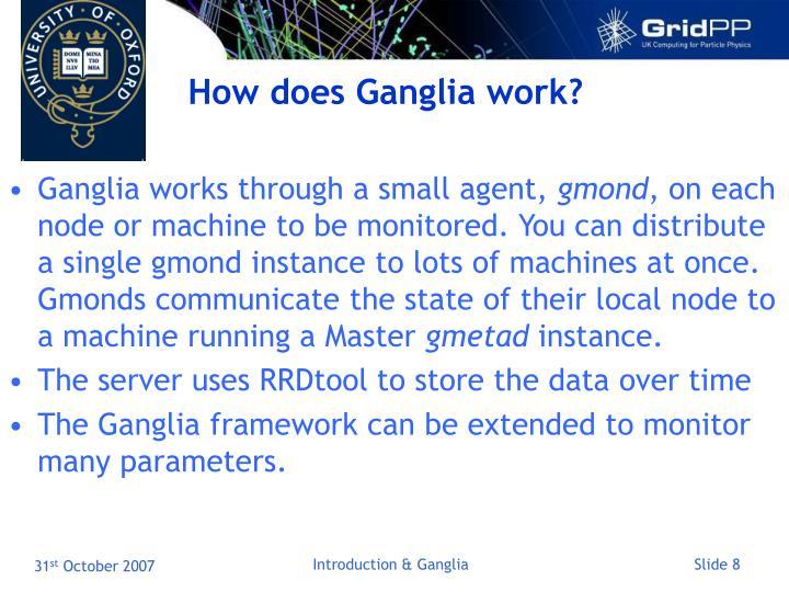 How does Ganglia work?