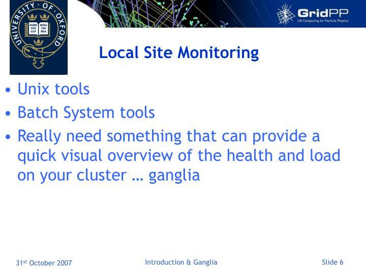 Local Site Monitoring