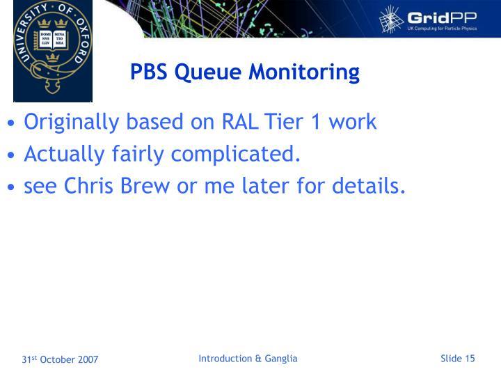 PBS Queue Monitoring