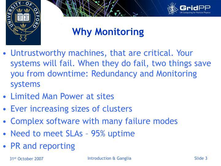 Why monitoring