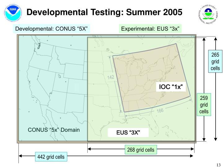 Developmental Testing: Summer 2005