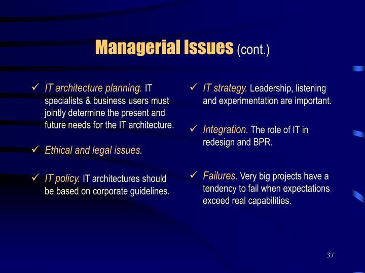 IT architecture planning.