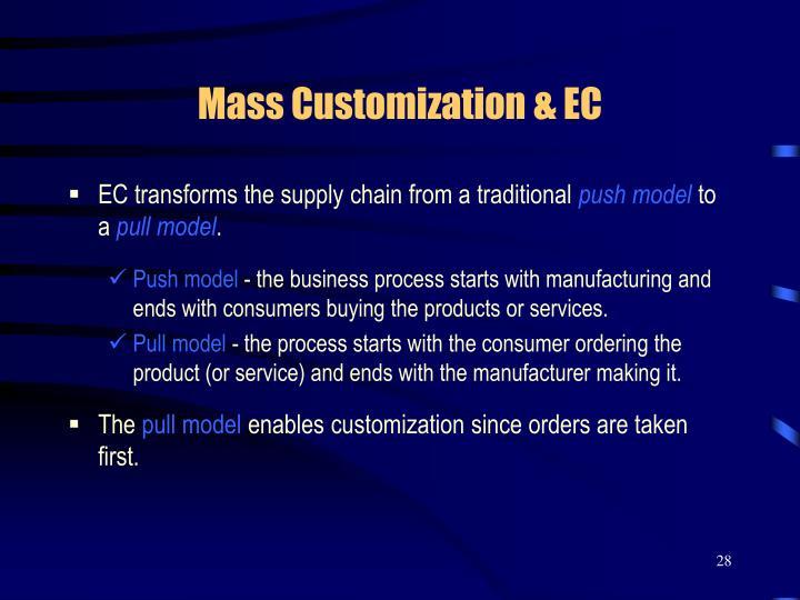 Mass Customization & EC