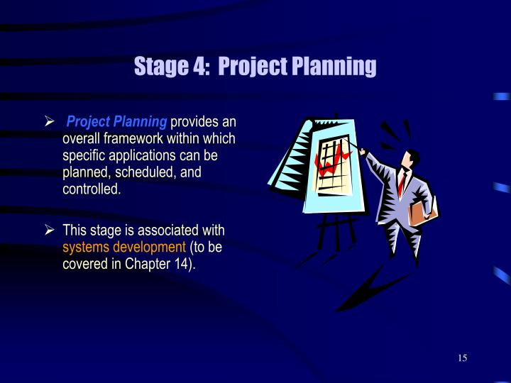 Stage 4:  Project Planning