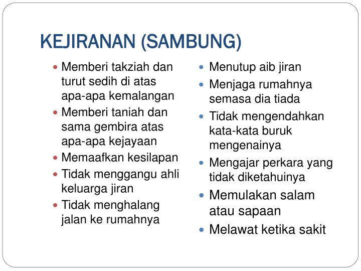 KEJIRANAN (SAMBUNG)