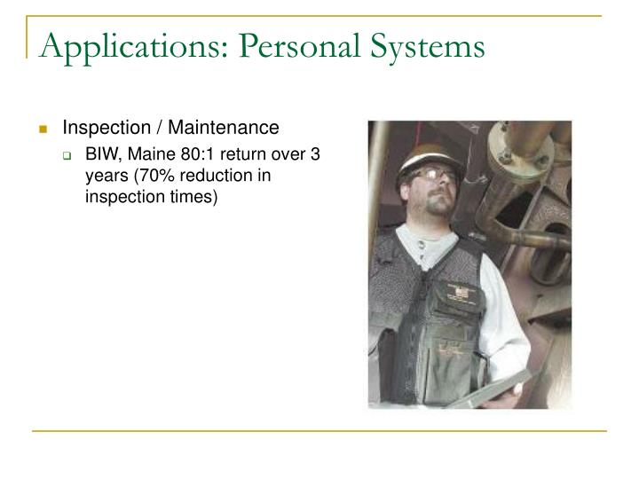 Applications: Personal Systems