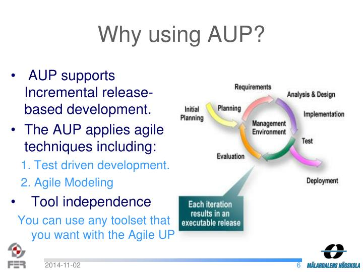 Why using AUP?