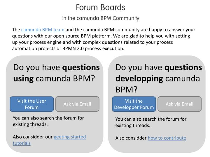 PPT - Do you have questions using camunda BPM? PowerPoint