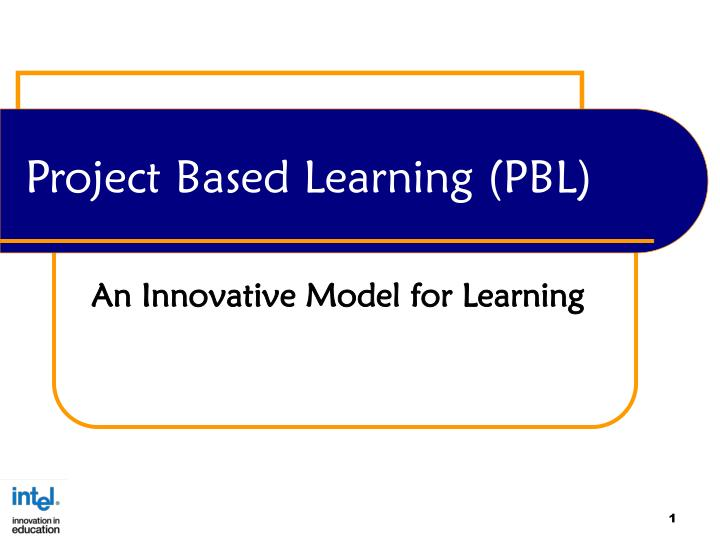 project based learning pbl n.