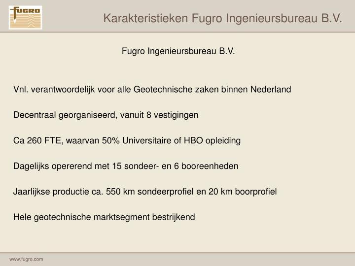 Karakteristieken Fugro Ingenieursbureau B.V.