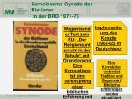 gemeinsame synode der bist mer in der brd 1971 75