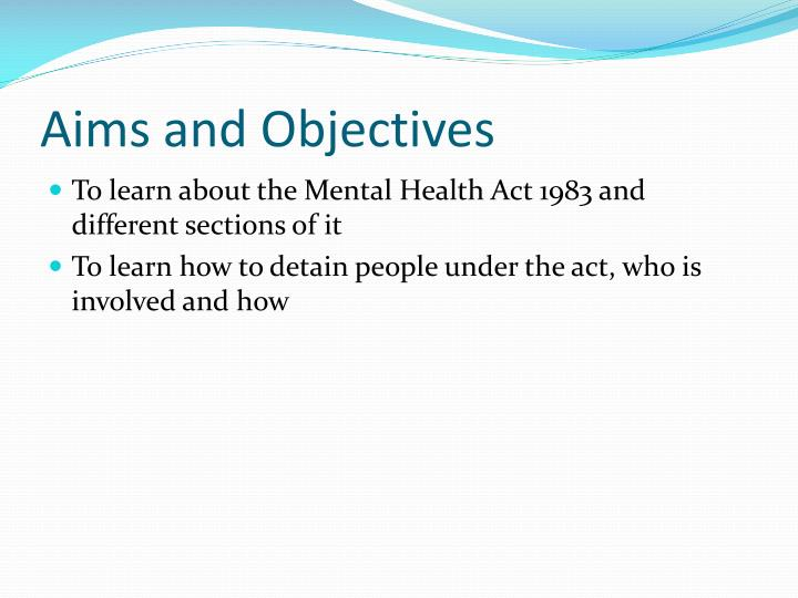 PPT - Mental Health Act PowerPoint Presentation - ID:6121675