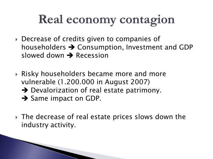 Real economy contagion