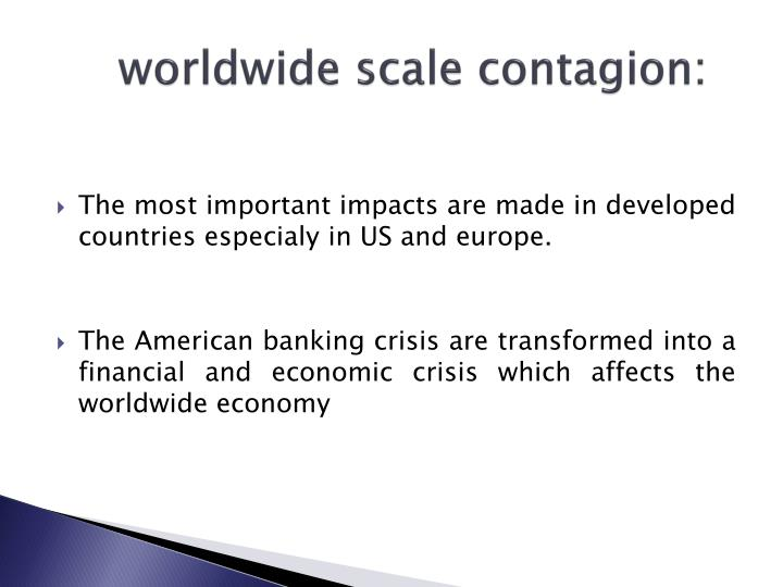 worldwide scale contagion: