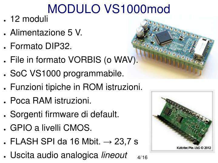 MODULO VS1000mod