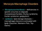 monocyte macrophage disorders