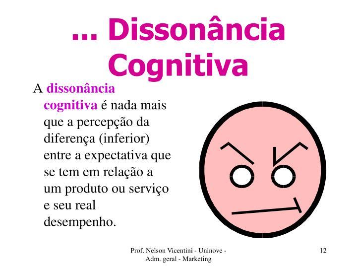 ... Dissonância Cognitiva