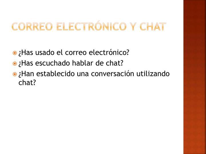 Correo electrónico y chat