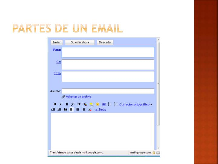 Partes de un email