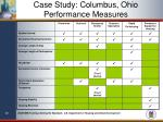case study columbus ohio performance measures