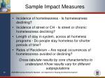 sample impact measures
