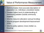 value of performance measurement