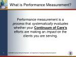 what is performance measurement