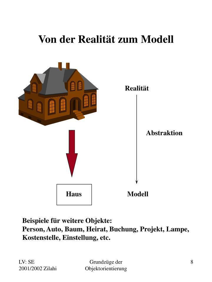 Von der Realität zum Modell