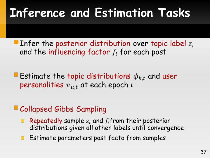 Inference and Estimation Tasks