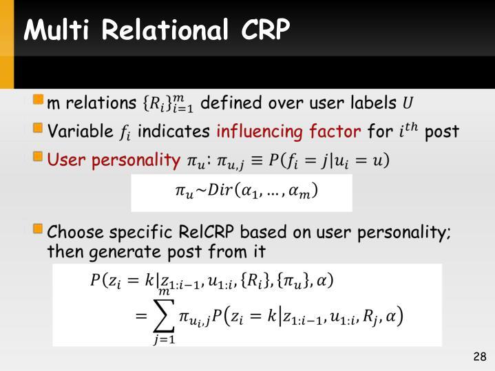 Multi Relational CRP