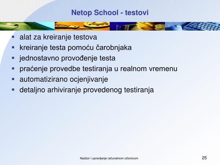 Netop School - testovi