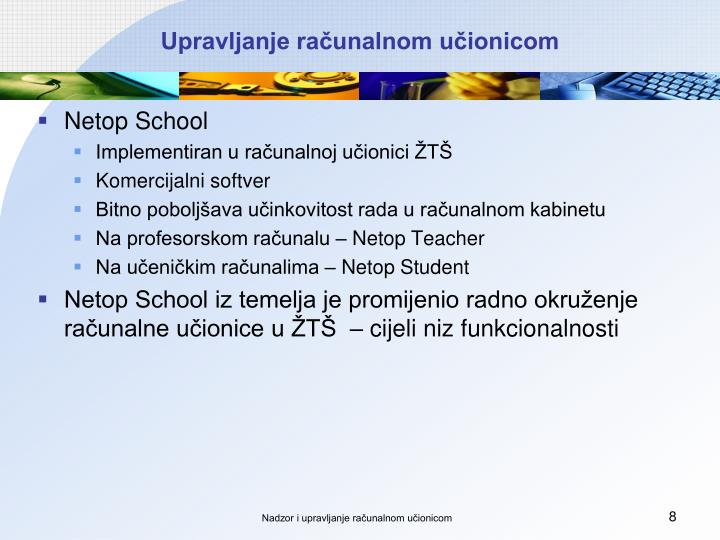 Upravljanje računalnom učionicom