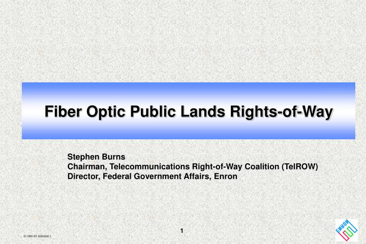fiber optic public lands rights of way n.