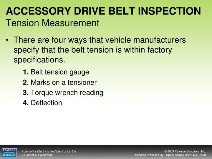 ACCESSORY DRIVE BELT INSPECTION