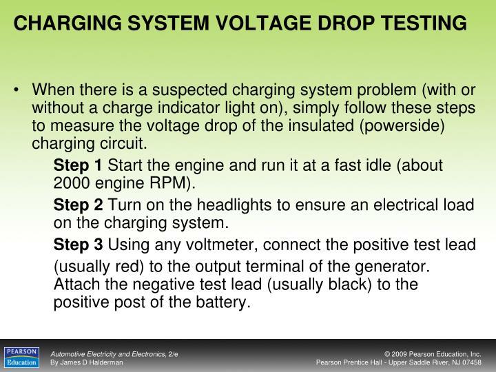 CHARGING SYSTEM VOLTAGE DROP TESTING
