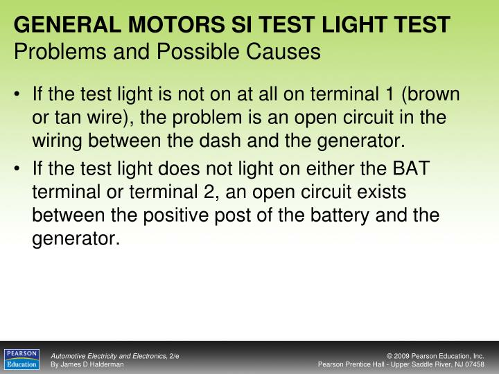 GENERAL MOTORS SI TEST LIGHT TEST
