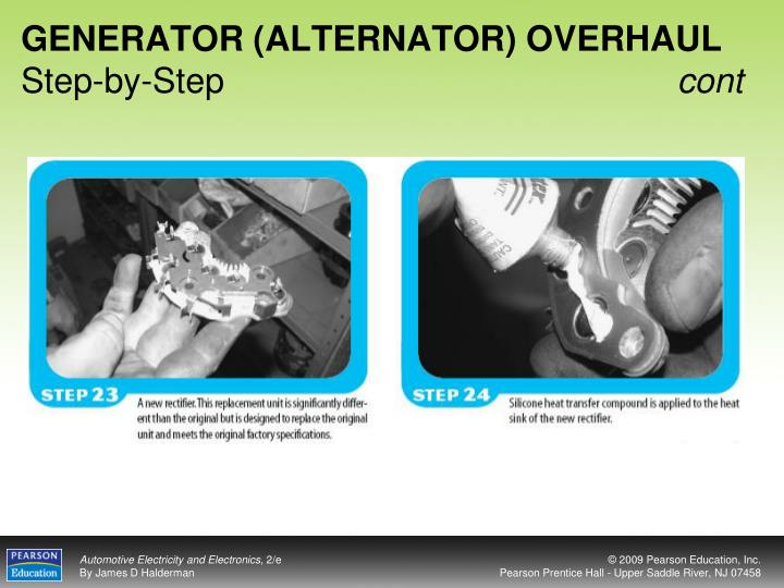 GENERATOR (ALTERNATOR) OVERHAUL