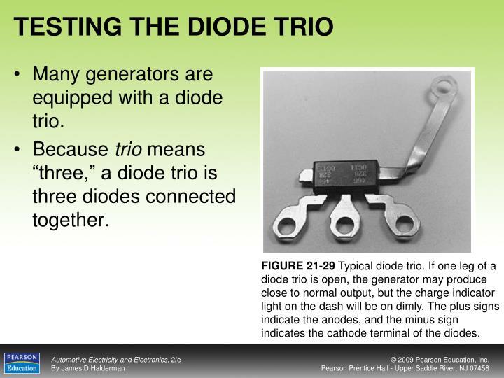 TESTING THE DIODE TRIO