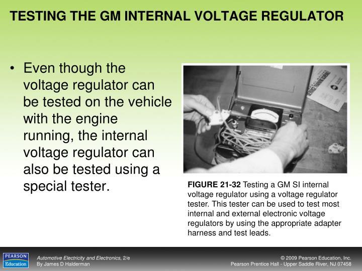 TESTING THE GM INTERNAL VOLTAGE REGULATOR