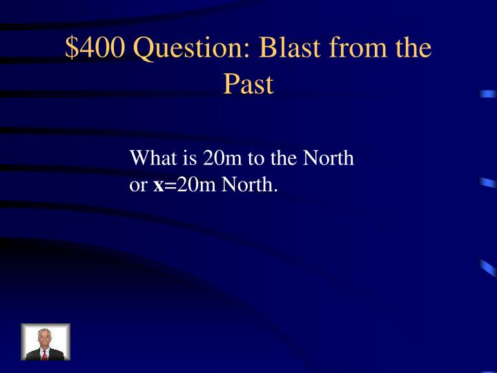 $400 Question: Blast from the Past