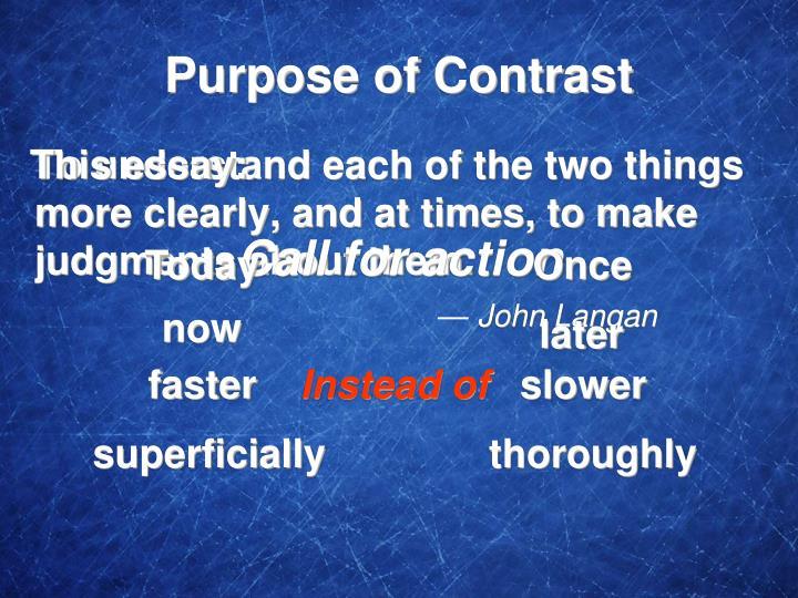 Purpose of Contrast