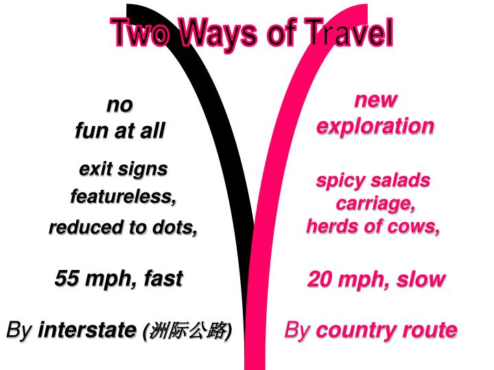 Two Ways of Travel