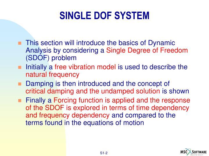 Single dof system