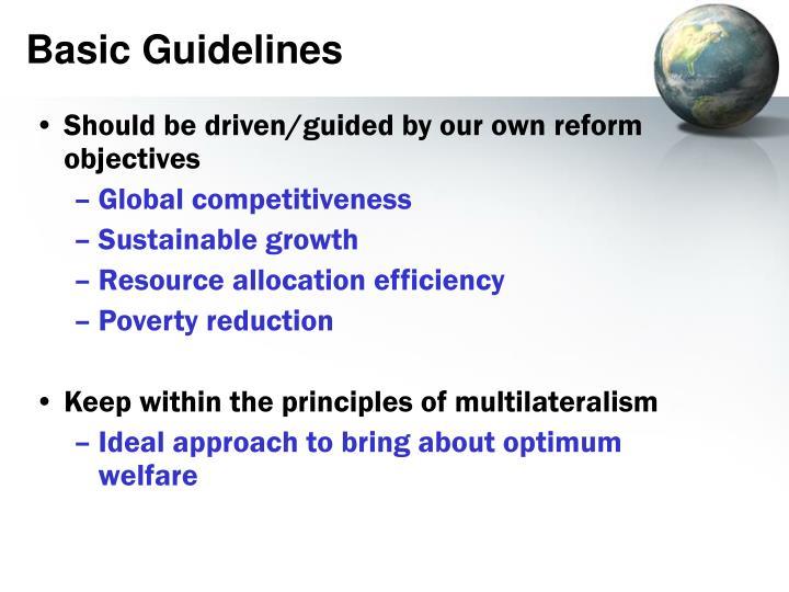 Basic Guidelines