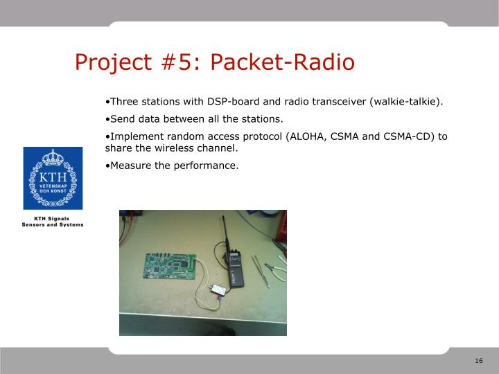 Project #5: Packet-Radio
