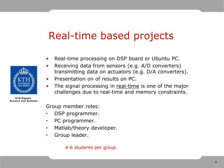 Real-time based projects